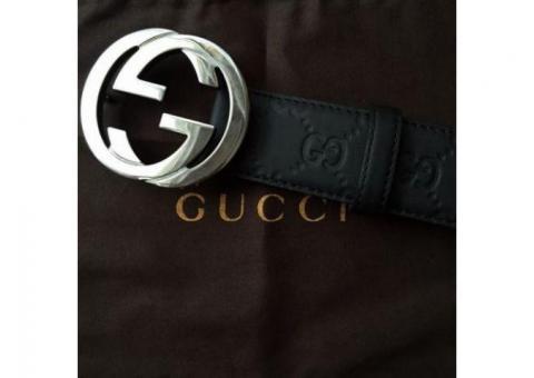 De vanzare Curea Gucci Guccissima Belt With Interlocking G 114984 AA61N