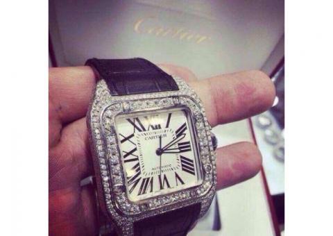 De vanzare ceas CARTIER Santos 100 Diamond AUTOMATIC